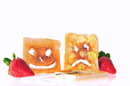 obesidad infantil: Desayuno. Foto de archivo