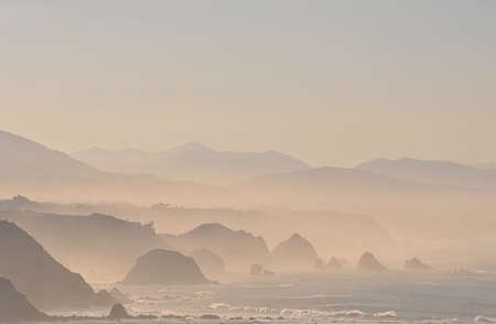 climatology: Fog on the cliffs. Stock Photo