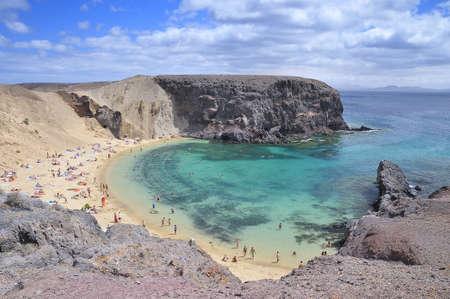Beach Papagayo, Lanzarote, Spain.