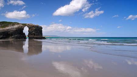 Cathédrales plage, lugo, Espagne.