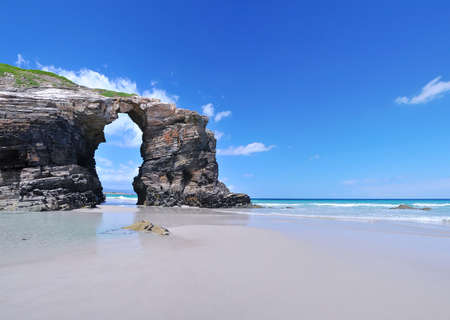 erode: Cathedrals beach, lugo, spain.