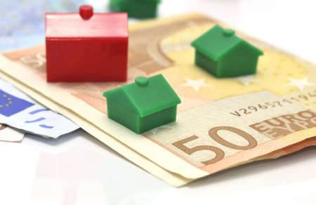Mortgage banking. Stockfoto
