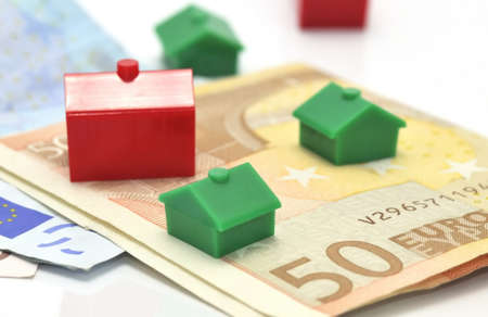speculation: Mortgage banking. Stock Photo