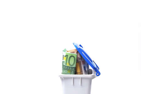 Money in a dumpster. Stock Photo - 10062482