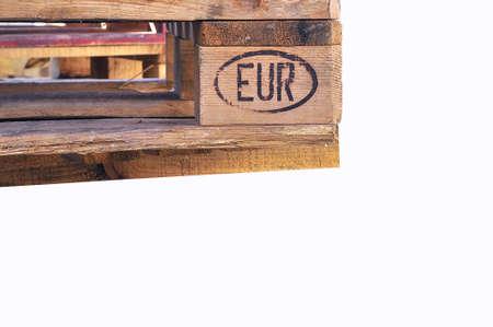 euro pallet: European Pallet isolated. Stock Photo