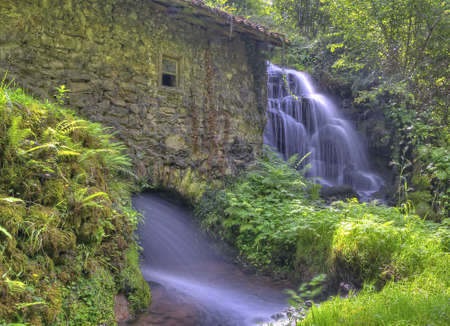 watermills: Old water mill. Stock Photo