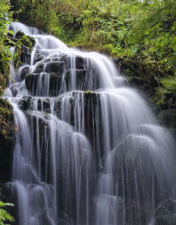 Waterfall in river. Stockfoto