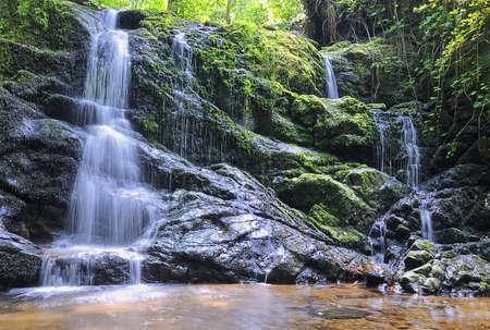 Waterfall in river. Banco de Imagens