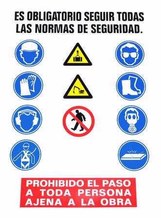 se�ales de seguridad: Signo de seguridad.