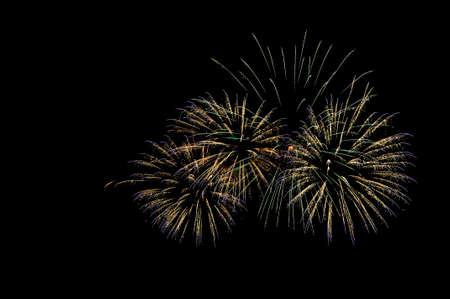 pyrotechnic displays: Fireworks. Stock Photo