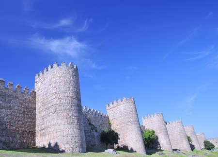 Walls of Avila, spain. photo