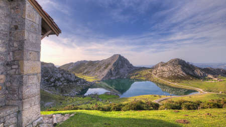 Lakes of Covadonga, Asturias, Spain. photo
