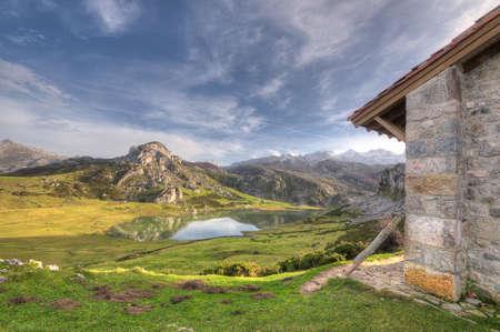 Lakes of Covadonga, Asturias, Spain.