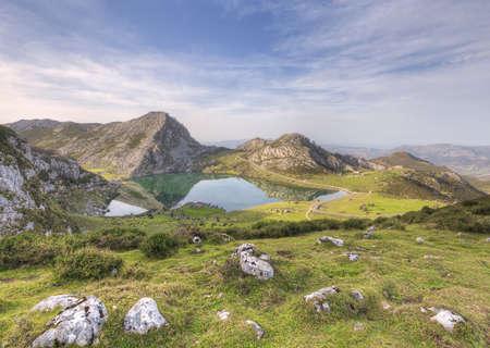 Laghi di Covadonga, Asturie, Spagna. Archivio Fotografico