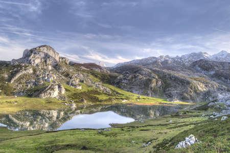 asturias: Lakes of Covadonga, Asturias, Spain.