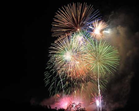 Fuochi d'artificio.