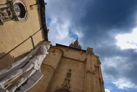 asturias: Cathedral of Oviedo, Asturias, Spain. Stock Photo