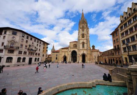 Cathedral of Oviedo, Asturias, Spain. Redactioneel