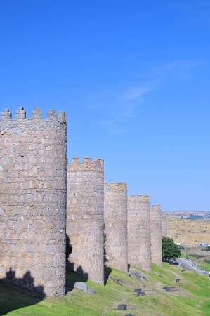 avila: City walls of avila, Spain.