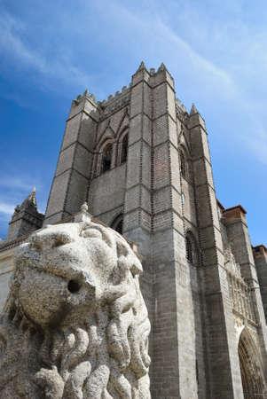 avila: Cathedral of Avila, Spain. Editorial
