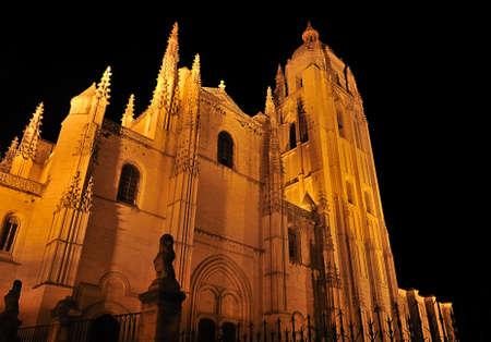 segovia: Cathedral of Segovia, Spain. Stock Photo