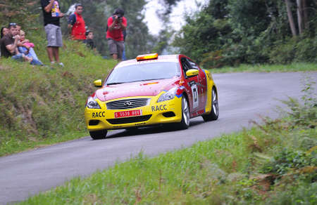 marc: Safety car in the Rally Principe de Asturias, Spain, piloted by Marc Blazquez.