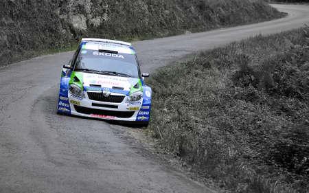 alberto: Alberto Hevia conducci�n en el Rally Pr�ncipe de Asturias 2011.