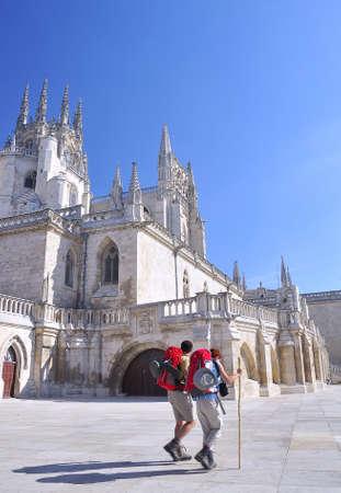Pilgrims in Burgos. Stock Photo - 10587238