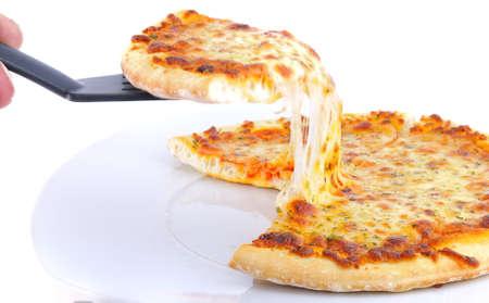 Het eten van pizza. Stockfoto - 10798952