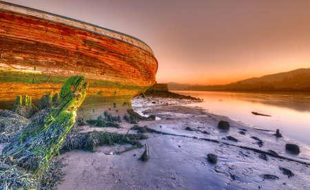 Abandoned ship. Stockfoto