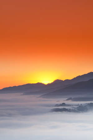 climatology:  Sunrise in the mountains.