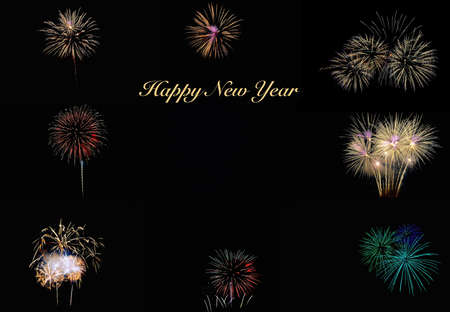 pyrotechnic displays: Happy new year.