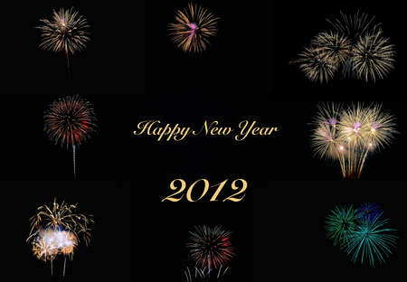 pyrotechnic displays: Happy new year 2012.