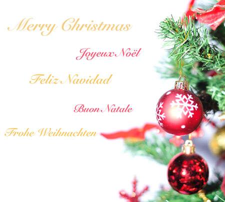 coronas navidenas: Feliz Navidad en diferentes idiomas.