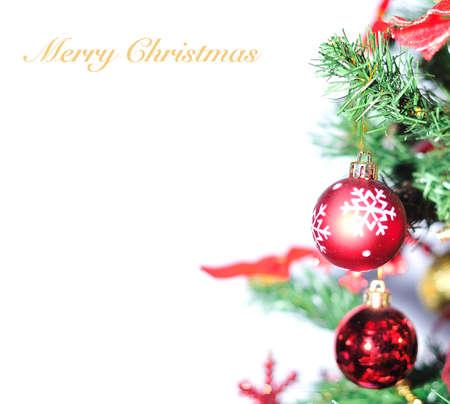 christmas wreaths: Christmas tree. Stock Photo