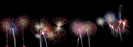 Panoramic view of fireworks. Stock Photo - 11614537