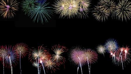 Double Fireworks. Stock Photo - 11614551