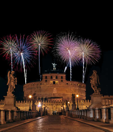Castle of St Angelo with Fireworks.