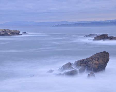 cantabrian: Cantabrian coast. Stock Photo