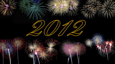 Fireworks for new year 2012. Stock Photo - 11614618