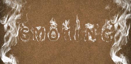 humo: Smoking. Stock Photo