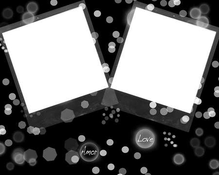 wedding photo frame: Black photo frame.