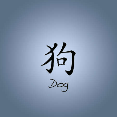 Chinese dog. photo