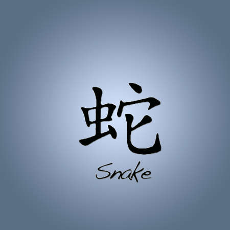 chinese writing: Snake.