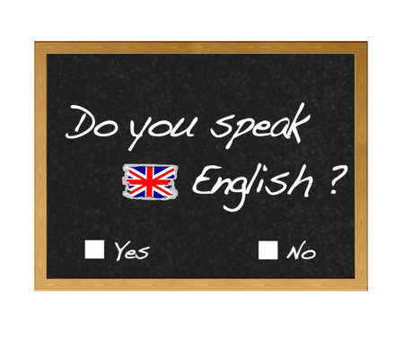 Do you speak english. Stock Photo