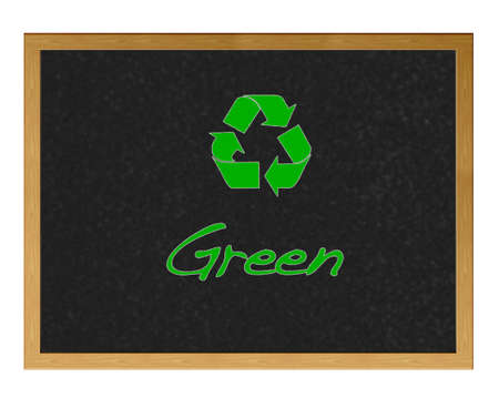 Blackboard with the word Green. Stock Photo - 12214816