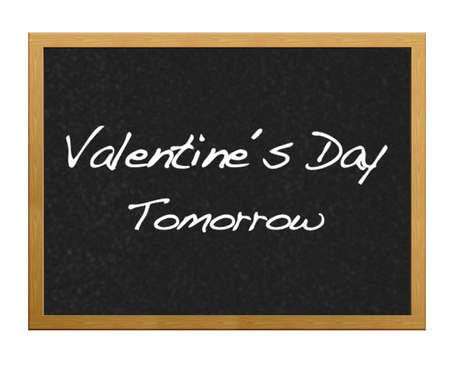 san valentin: Mensaje de San Valentin en una pizarra.