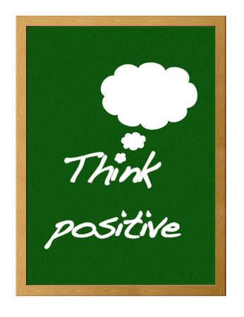 Think positive. photo