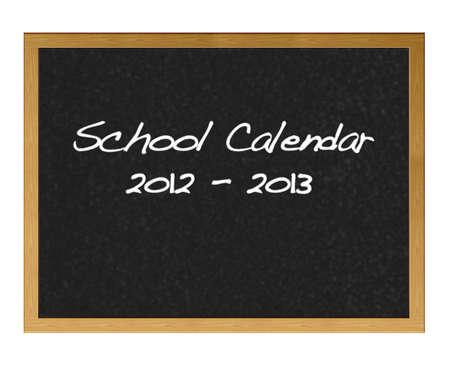School calender 2012-2013 Stock Photo - 12214843