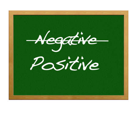 Be positive, not negative. Stock Photo - 12214881